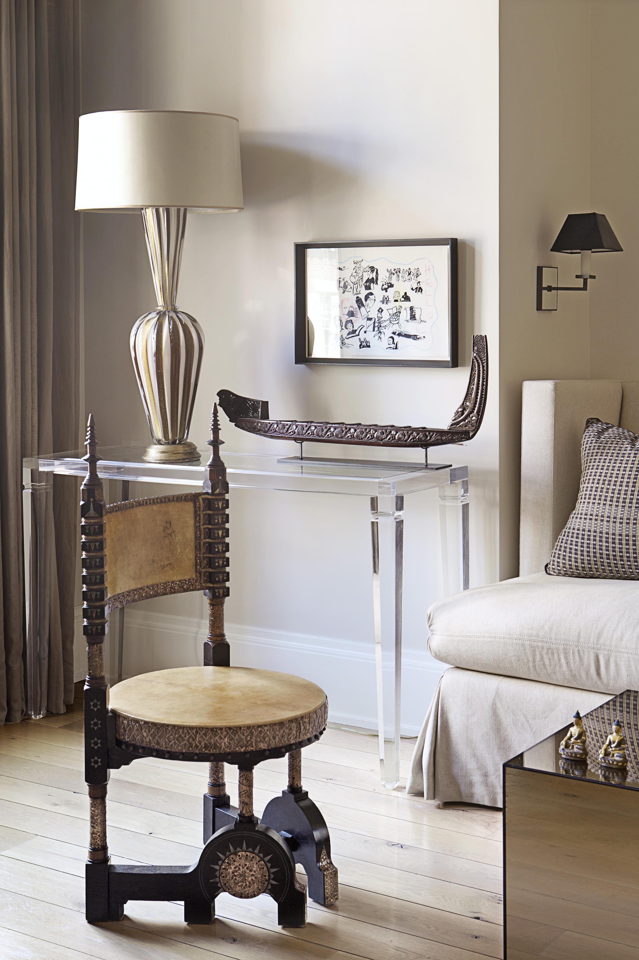 Carlo Bugatti Chair in living room of Sandra Nunnerley