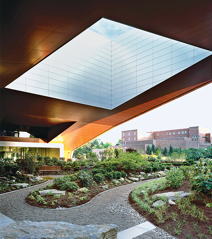 Pennsylvania State Millennium Science Complex with cantilevered acoustic insulation