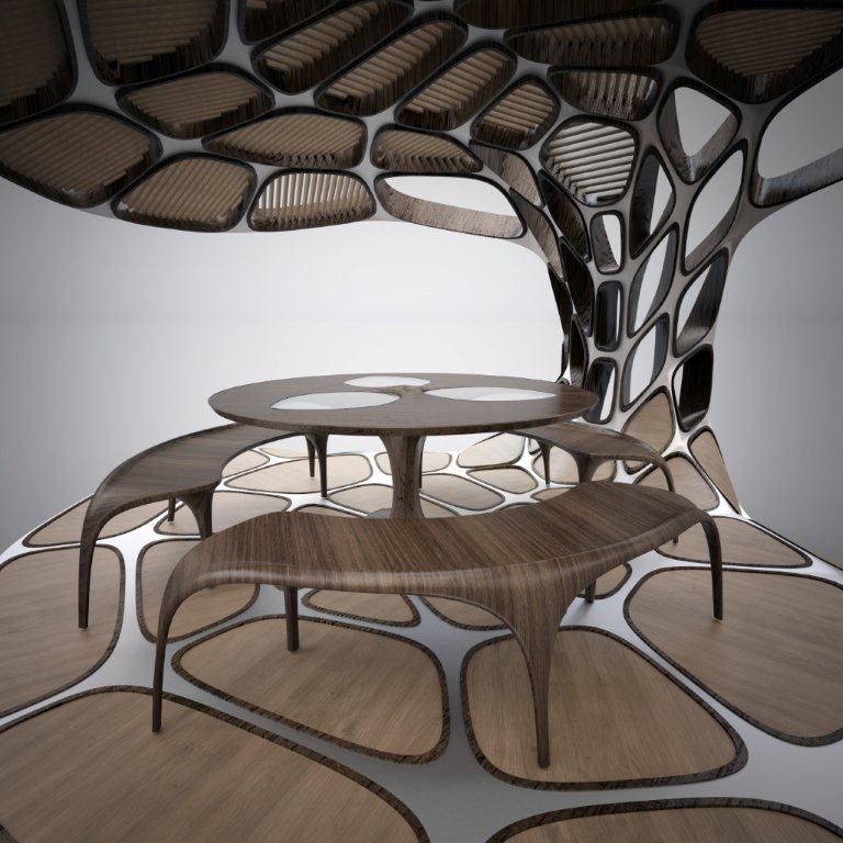 Volu Dining Pavilion by Zaha Hadid and Patrik Schumacher