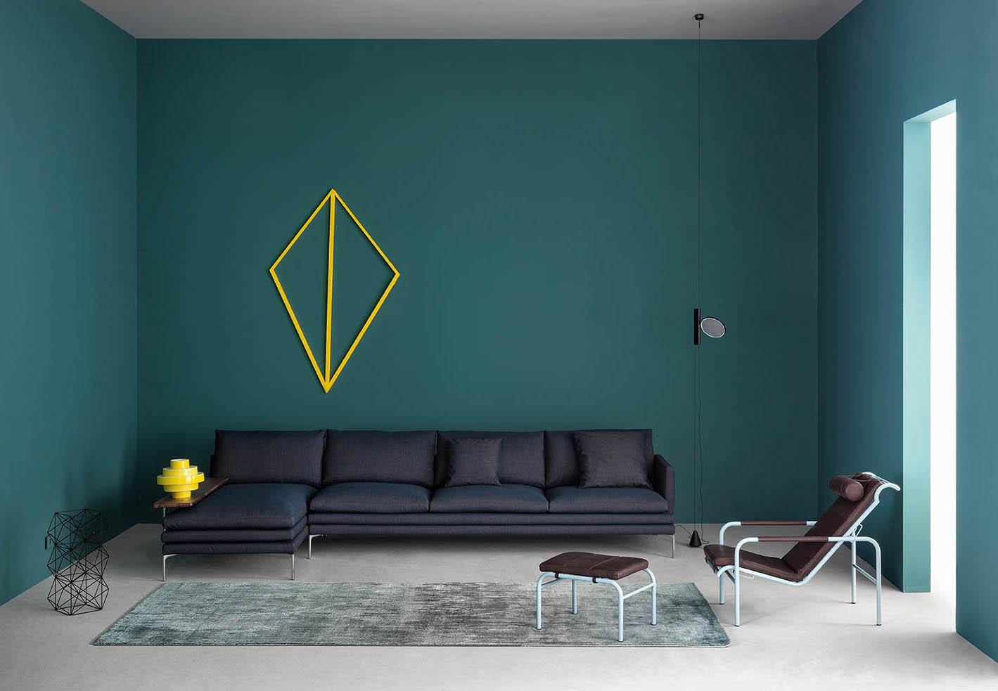 Zanotta sofa and lounge chairs from Salone 2015