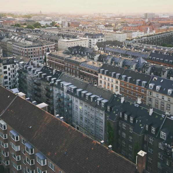 Aerial view of Copenhagen