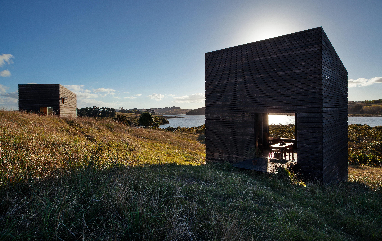 The facade of a New Zealand cabin.