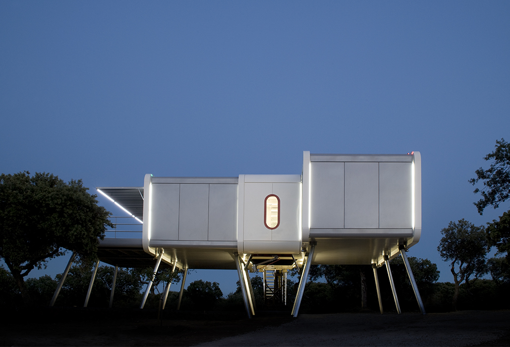 Spaceship prefab in Spain