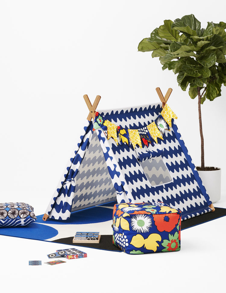 Play tent and accessories from Marimekko's collaboration with Target.