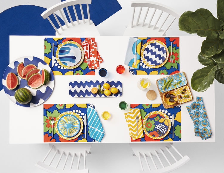 Tableware from Marimekko's collaboration with Target.