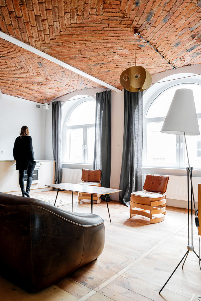 Polish loft with a vintage furniture collection