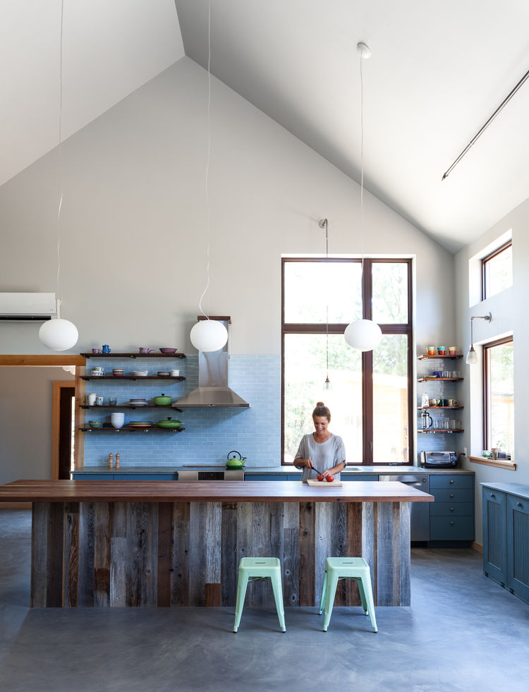 An airy kitchen in Northern California