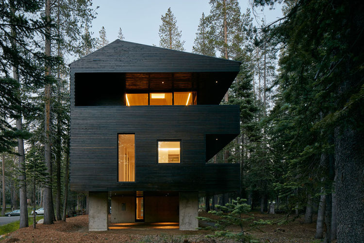 A family home in the California forest.