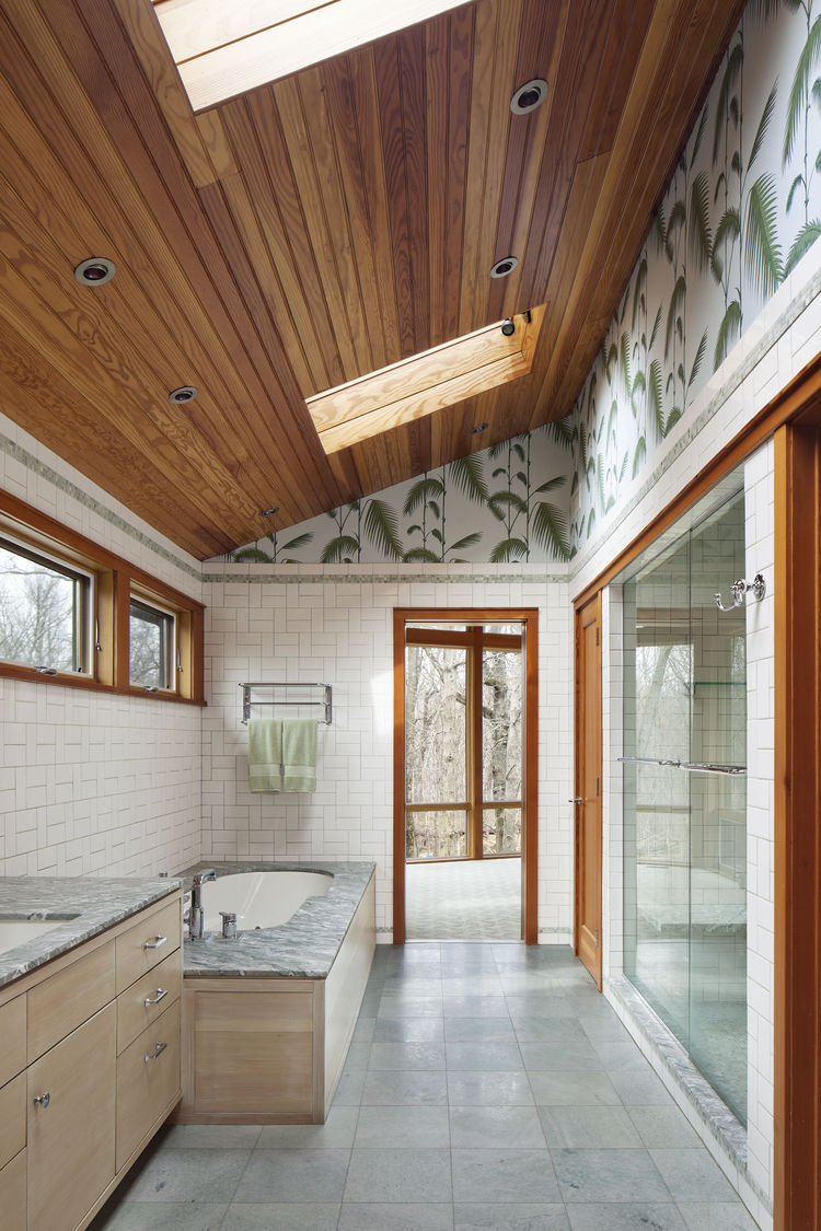 Master bathroom of a midcentury remodel