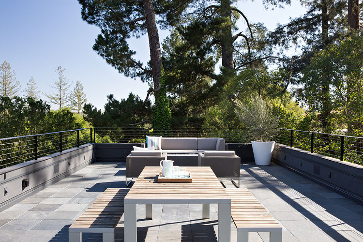 Orinda addition roof deck