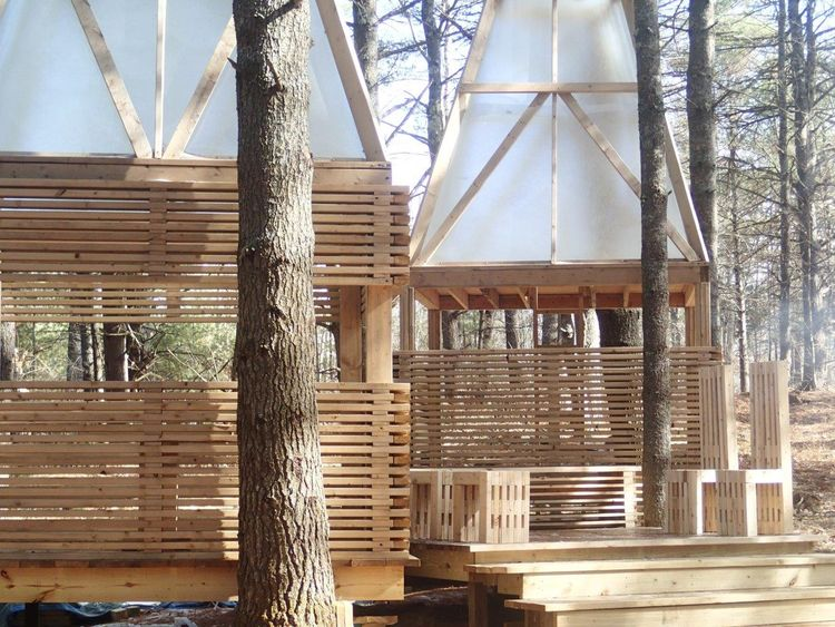 Studio North 2016 Woodland Retreat designed by students