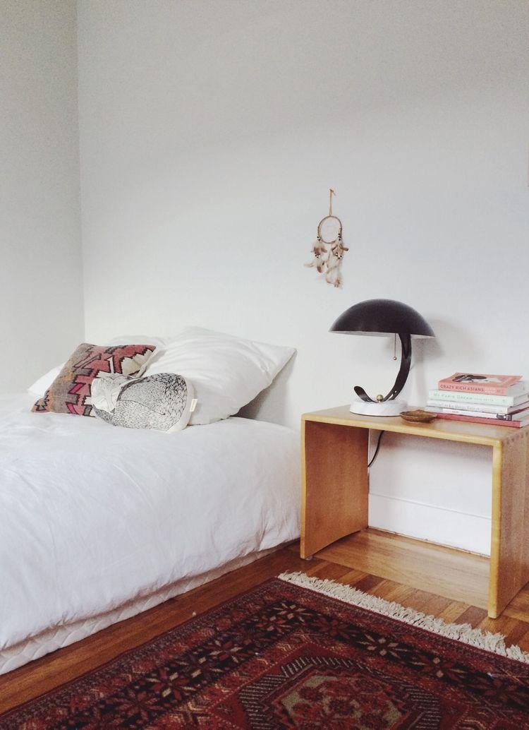 Oakland bedroom with vintage finds