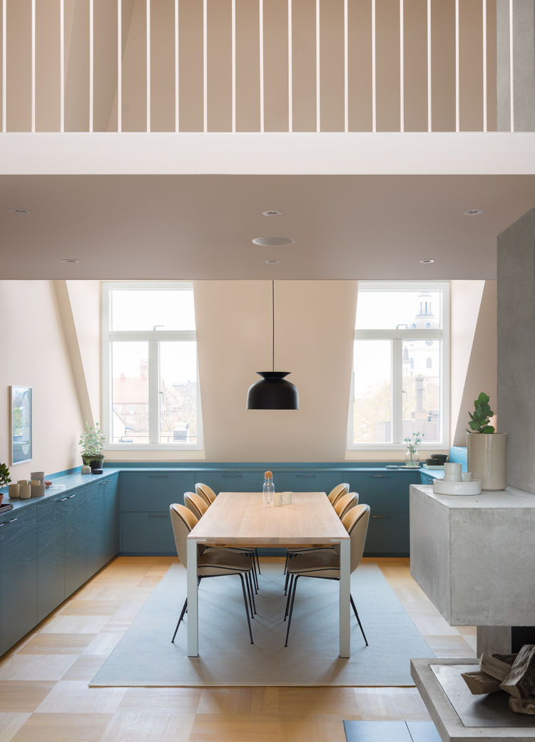 Stockholm loft kitchen