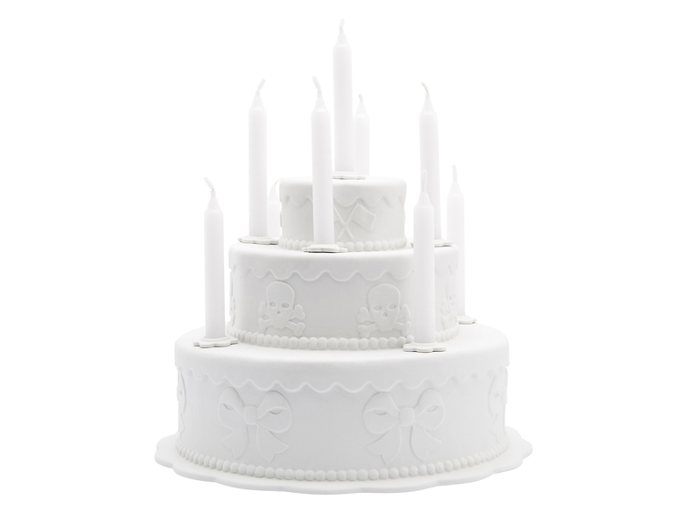 Biscuit Tiered Cake Candleholder (2006) by Studio Job, estimated at $600–$800, for sale on Paddle8 as part of Murray Moss' auction.