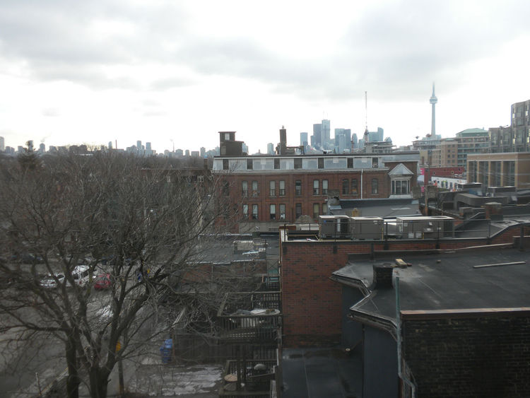 "Exploring a part of town I haven't visited much in the past, I stayed at the <a href=""http://www.gladstonehotel.com"">Gladstone Hotel</a> on Queen Street West at Dufferin (shown here is a view toward Toronto's downtown on Friday's dreary morning). The area"