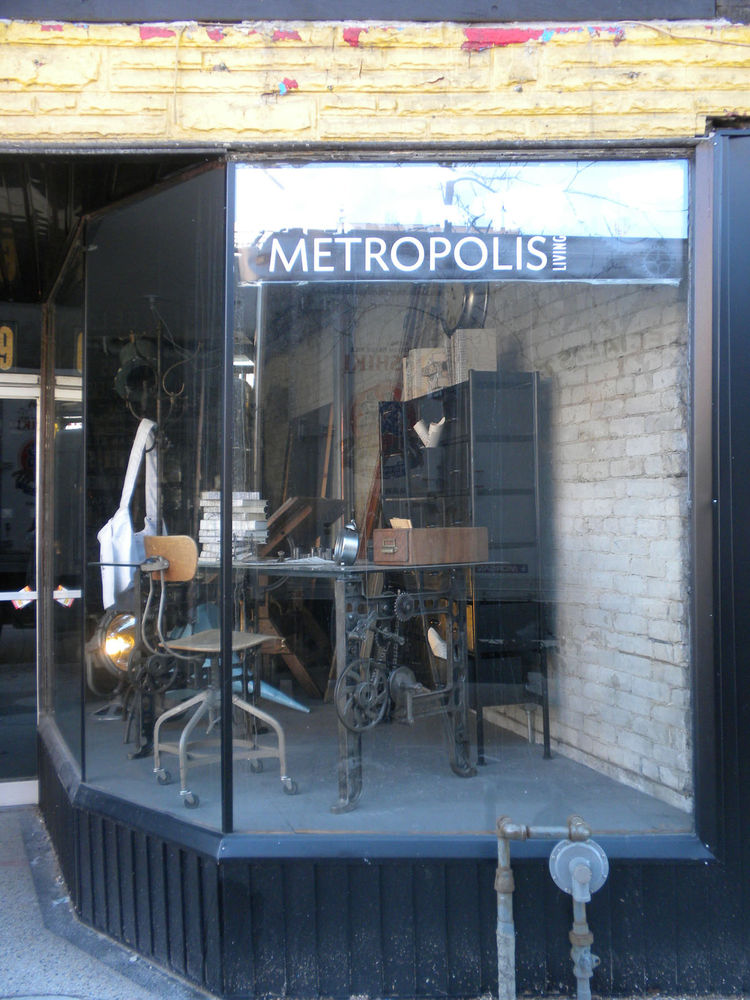 "Salvaged and reclaimed pieces are the calling of The Junction and one shop that caught my eye was <a href=""http://www.metropolis-living.com"">Metropolis Living</a>. The store was closed but you can peruse images of the inside at <a href=""http://www.metropo"