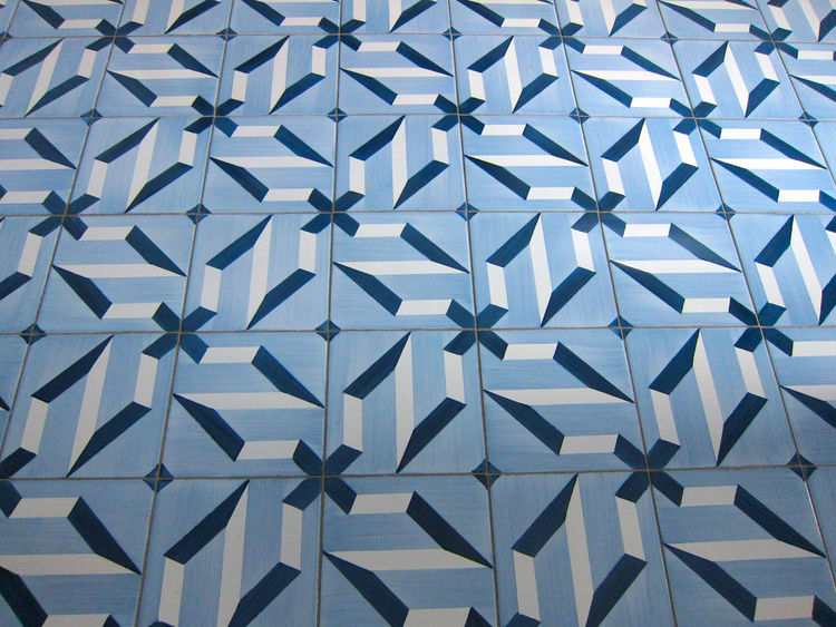 Perhaps the hotel's most distinctive features are the 30 custom tile patterns, which Ponti designed; they were executed by a local producer, Ceramica D'Agostino, in nearby Salerno. Our room featured the first pattern he conceptualized, which was purported