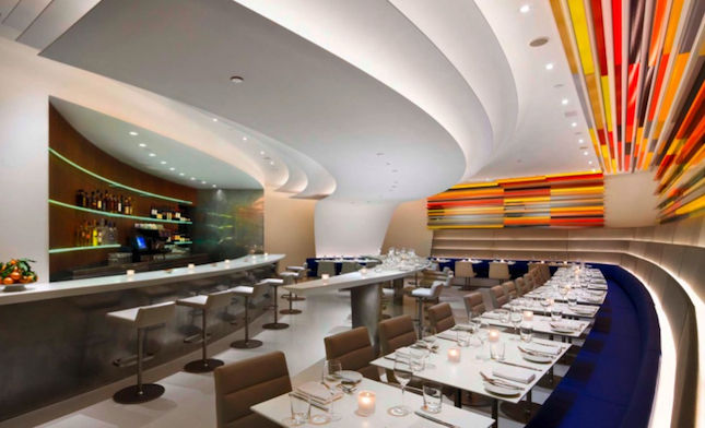"""<b><a href=""""http://www.thewrightrestaurant.com/home/default.asp"""" target=""""_blank"""">THE WRIGHT AT THE GUGGENHEIM MUSEUM</a></b> Restaurant designed by <a href=""""http://www.akarch.com/"""" target=""""_blank"""">Andre Kikoski Architect</a> <br /><br />  Nestled into a c"""