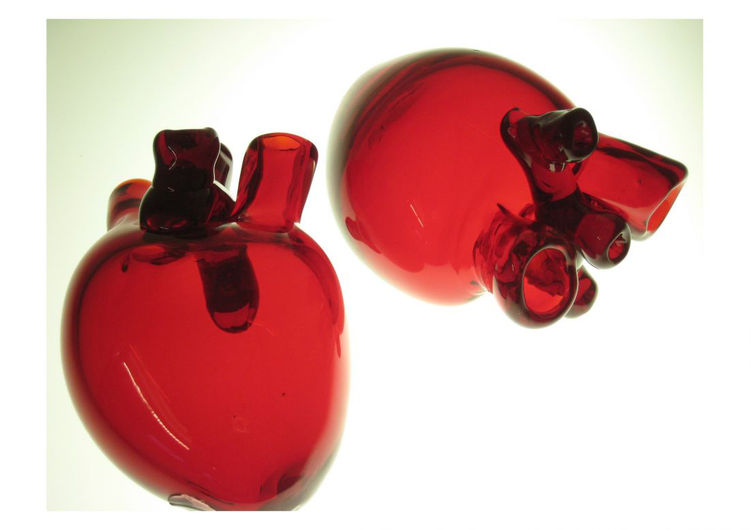 "You've probably seen Sigga Heimis' designs at Ikea; in fact, chances are you have a few in your home. (She's done over a 100.) What really struck me at DesignMarch were these ""Organ Glasses,"" blood-red handblown decorative glassware Heimis originally did"