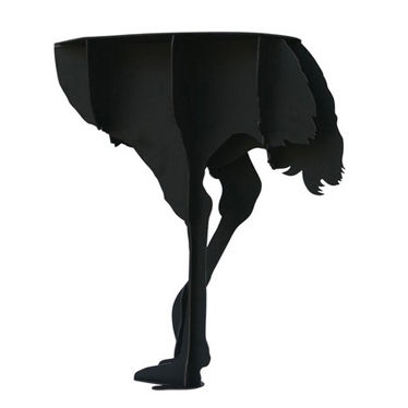 Black ostrich table