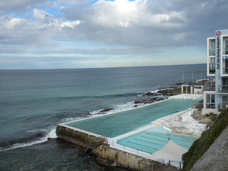 "At then other end of Bondi Beach is this more famous pool. It belongs to the famous <a href=""http://icebergs.com.au/"">Bondi Icebergs Club</a> but the public is welcome to swim there too."