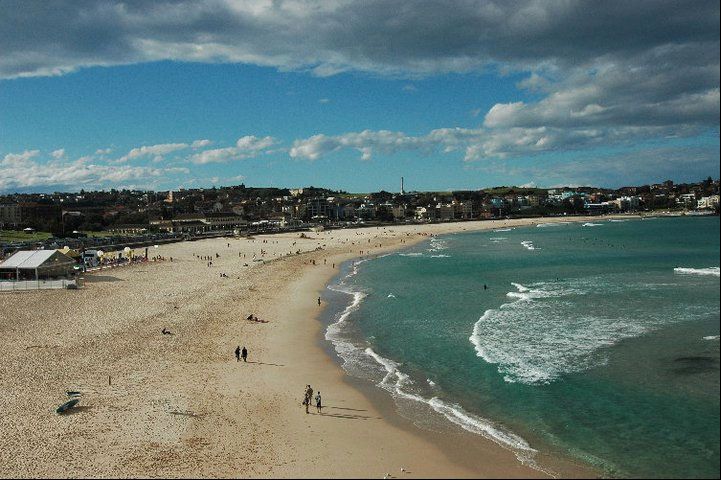 "This amazing beach is the famous Bondi Beach, recommended countless times, including once by <a href=""http://www.twitter.com/dwell"">Dwell</a> follower <a href=""http://www.twitter.com/kencarpenter"">@KenCarpenter</a>. We were in Australia in July so we caug"