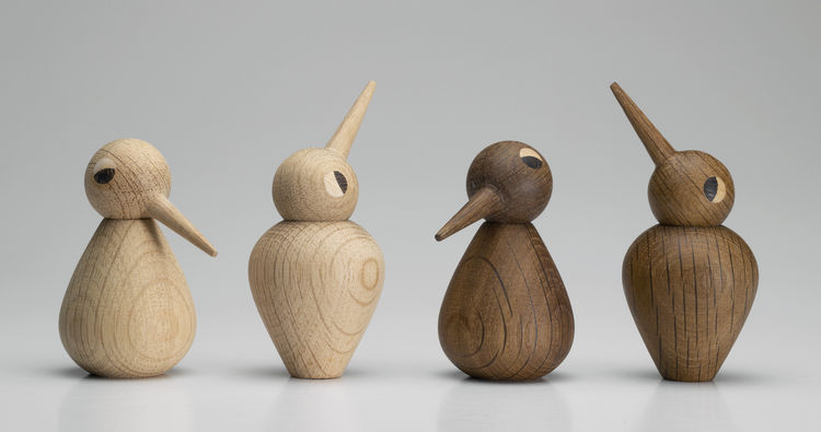Vedel also designed the Birds, a series of child, parent, and grandparents birds. Users can point the heads in any direction to change each bird's expression. Architectmade is also launching Oscar, a wooden dog by Hans Bølling, and the Circle Bowl by Finn