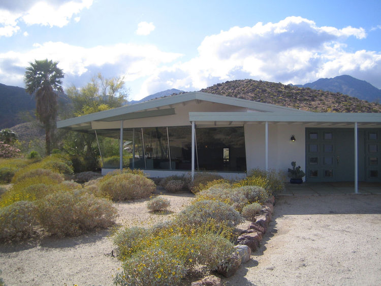 The Desert Club is not in use now, but back in the 50s it was the heart of the swinging social scene in Borrego Springs. It opened in 1950 and was designed by William Kessling. The pool is now empty, but I can only imagine what it was like to loll there w