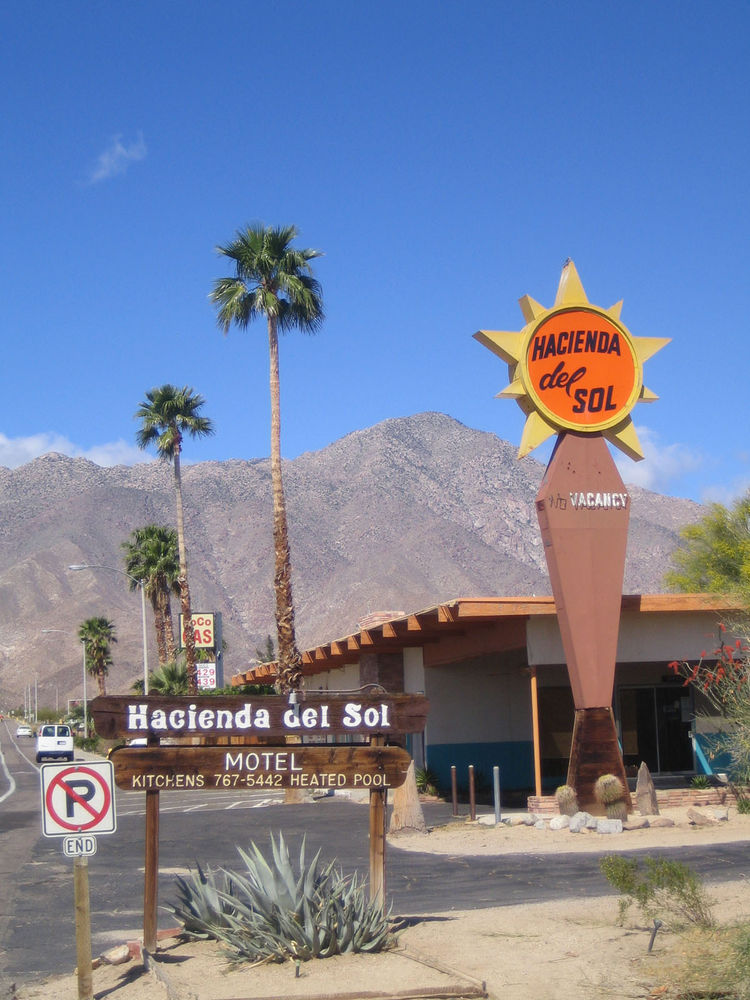 What fan of retro design could resist a night at the Hacienda del Sol Motel downtown? You also get a good sense of how near the mountains of the Anza Borrego State Park are. The town is entirely within the bounds of the park.