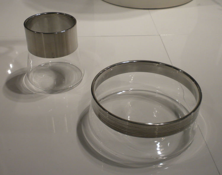 "<a href=""http://www.svenskttenn.se/en-us/product/0152/skalar-vaser/ga10133/bowl-with-pewter-collar.aspx"">Bowl with Pewter Collar</a> for Svenskt Tenn. ""I had these pewter-and-glass bowls for the 80-year anniversary of Svenskt Tenn. The idea was that when"