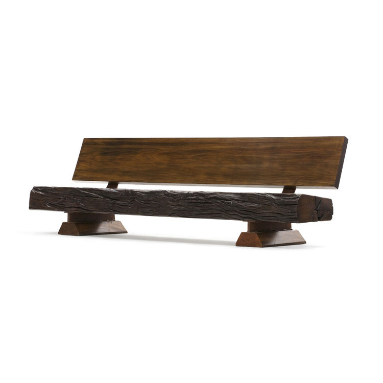 """Motta's Butantã bench, which he says is """"made of reclaimed wood from an old bridge demolition."""" Photo courtesy <a href=""""http://espasso.com/home.asp"""">Espasso</a>."""