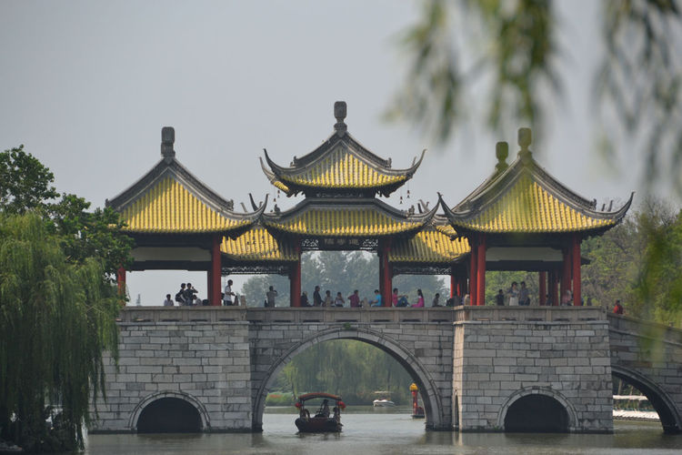 Shahid watched this boat pass under a floating pavilion in Yangzhou's Slender West Lake Park, which is modeled after the more famous West Lake Park in Hangzhou.