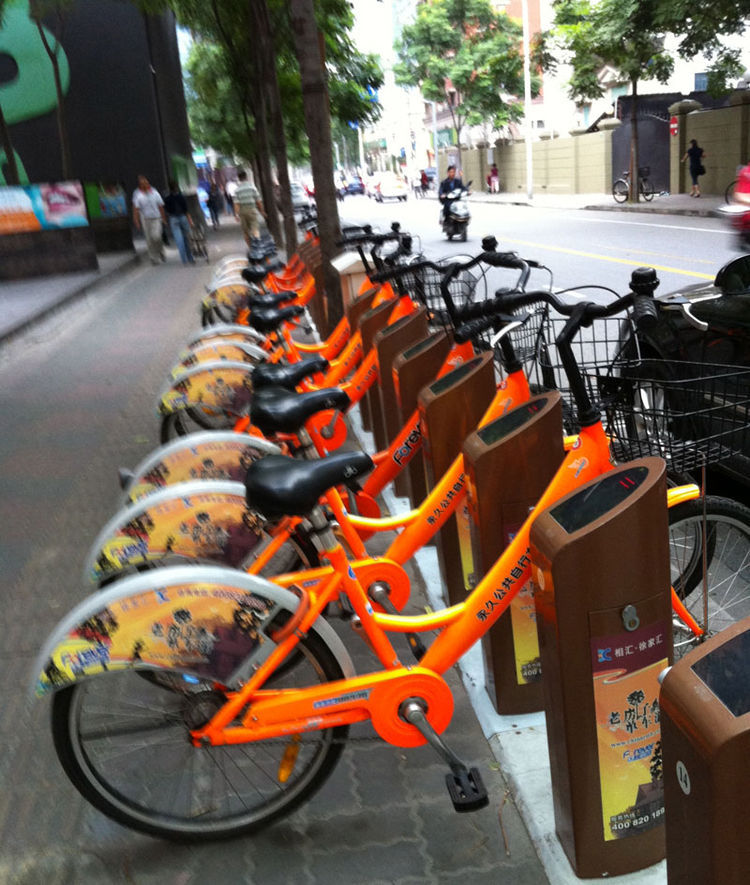 "Shanghai boasts a bike-sharing program similar to <a href=""http://www.velib.paris.fr/"">Vélib'</a> in Paris and <a href=""http://www.bixisystem.com/"">Bixi</a> in North American cities like Montreal and Washington, D.C. Shahid, however, didn't see any of the"