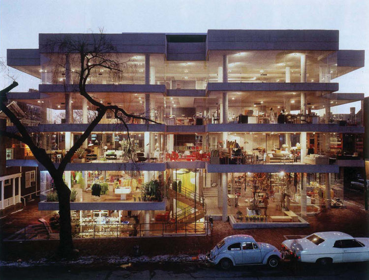 Jane and Benjamin Thompson collaborated to create Design Research (the Cambridge, Massachusetts, store is shown here) to bring modern design to the masses, one of the first shops in the U.S. to do so. Photo by Esto.