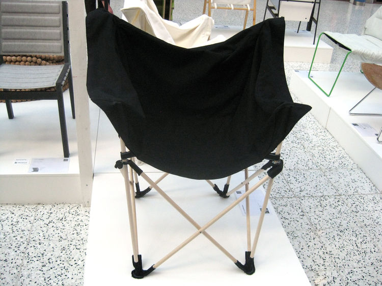 BEDOUIN by ILKKA SUPPANEN  Helsinki Design Week's Designer of the Year presents a collapsible lightweight chair that takes up very little room—minimizing both storage and transport costs. It was also constructed from entirely renewable materials.