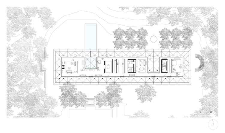 "The plan of the Fishers Island House by Thomas Phifer and Partners.<br /><br /><p><em><strong>Don't miss a word of Dwell! Download our </strong></em><a href=""http://itunes.apple.com/us/app/dwell/id411793747?mt=8""><em><strong> FREE app from iTunes</strong>"