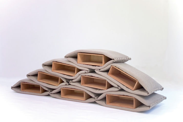 "Hand-sewn to imitate the style of coffee sacks, <i>Guerrilla</i> containers by Madrid-based <a href=""http://www.stone-dsgns.com/indexeng.html"">Stone Designs</a> are for friendly and peaceful use. Simple bags become fun, versatile pieces of furniture. They"