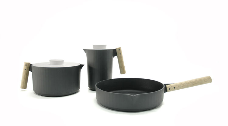 <i>Handle Me</i>, a collection of cast iron cookware, by Angel Wyller Aarseth.