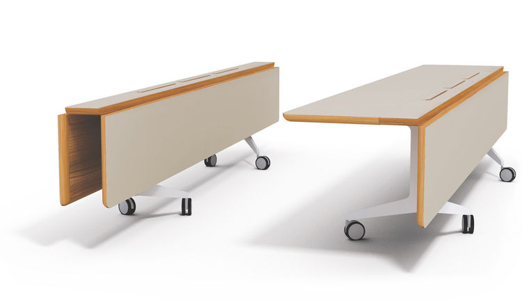 "Jackobsen's proposed table folds down to a slim profile for storage, though it could also easily act as long console in a pinch.<br /><br /><p><em><strong>Don't miss a word of Dwell! Download our </strong></em><a href=""http://itunes.apple.com/us/app/dwell"