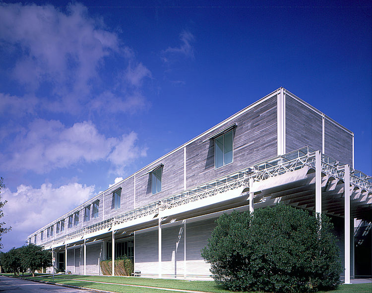 """The Menil Collection building by acclaimed architect Renzo Piano. Visit the Menil Collection online at <a href=""""http://www.menil.org"""">menil.org</a>. Image courtesy of the Greater Houston Convention and Visitors Bureau."""