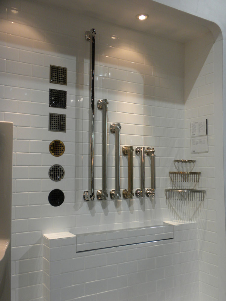 "<a href=""http://www.kohler.com"">Kohler</a> was also showcasing its <a href=""http://www.us.kohler.com/onlinecatalog/group_result.jsp?&parent_item_number=Grab+Bars+-+Bathroom+Accessories&category=19"">bathroom grab bars</a>. Though grab bars are often an eye"