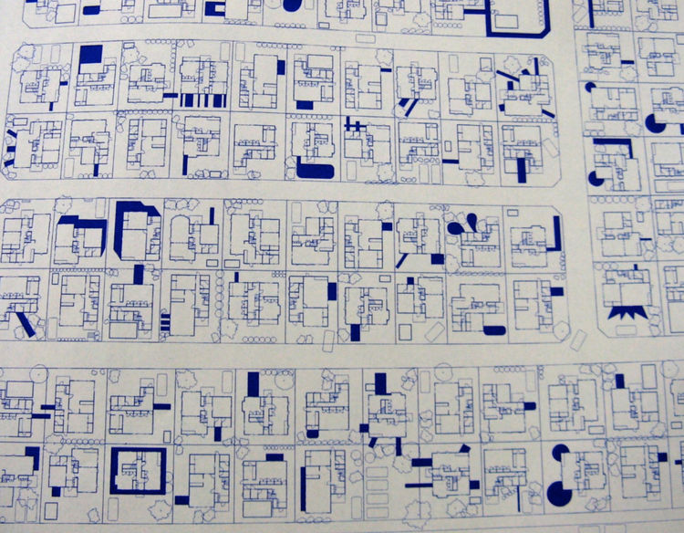 "The newly expanded homes may evoke <a href=""http://www.amazon.com/Schylling-PANIC-PETE-SQUEEZE-TOY/dp/B001R57O88"">rubber squeeze dolls</a> under extreme pressure, but they certainly take advantage of all available open space (in this drawing dark blue are"