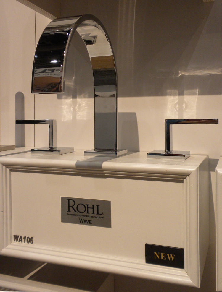 "<a href=""http://www.rohlhome.com/"">Rohl</a> displayed its new Wave line of bathroom faucets, which includes an outdoor showered."