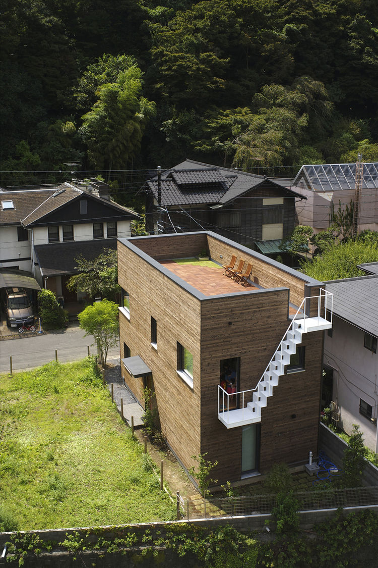 This house for a family of four in Kamakura, near Tokyo, was the first in Japan to receive Passive House certification, an international standard for energy-efficient housing. It was designed by Mori and completed in 2009.