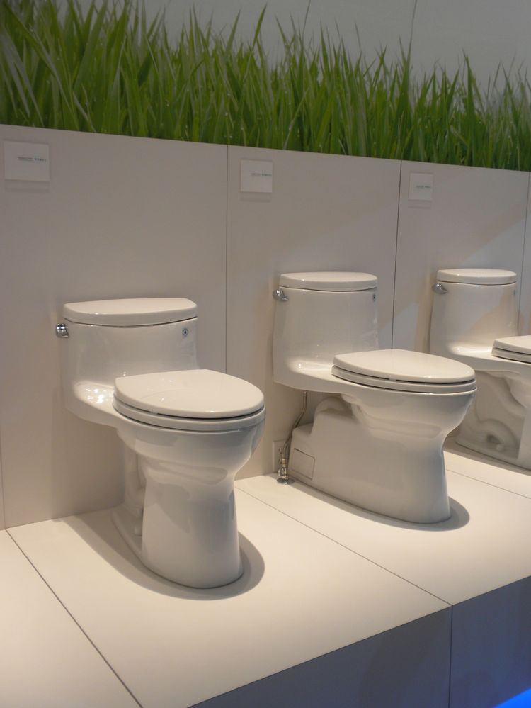 "<a href=""http://www.totousa.com/"">Toto</a> had its lineup of low-water toilets on display as well as its washlets, sinks, and faucets."