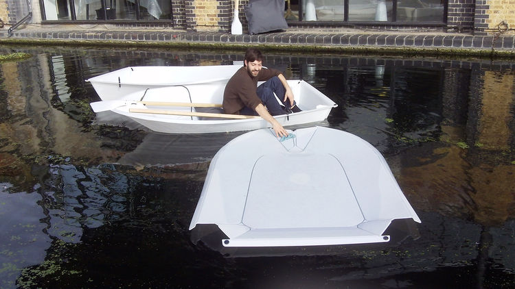 "Tom Dixon hosted events at and near his offices at The Dock, a year-round restaurant situated along a narrow canal in West Kensington. The stand-out product, however, was a <a href=""http://www.foldboat.info/"">flatpack boat</a> by two 2011 RCA graduates, M"