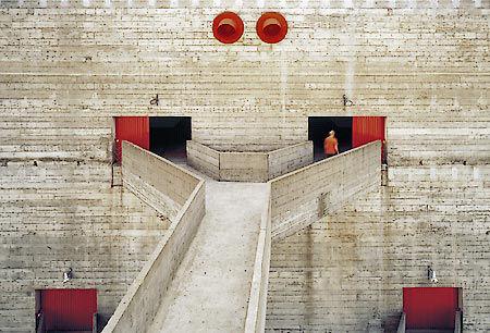 A side entrance to Bo Bardi's Fábrica da Pompéia.