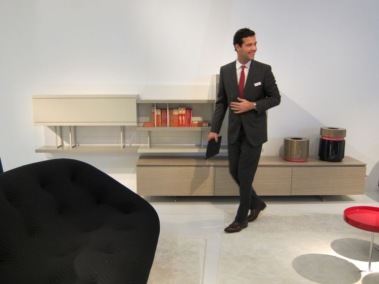 Unlike most other major furniture companies, who unveil the bulk of their new wares at Milan, the French family-owned brand Ligne Roset (and its affiliate Cinna) were fittingly premiering the whole of their new collection at Maison & Object. The dapper An
