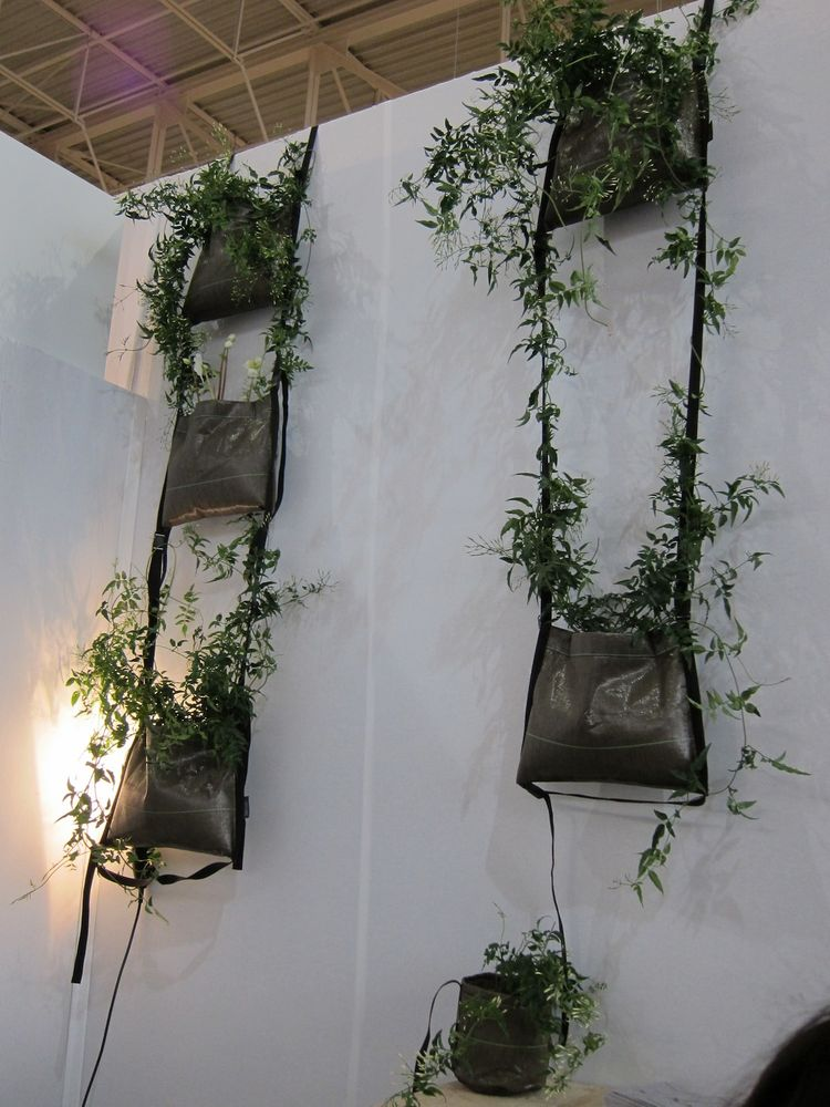 Another, rougher way to create a vertical garden (the 'Pot Suspendu' from BACSAC).