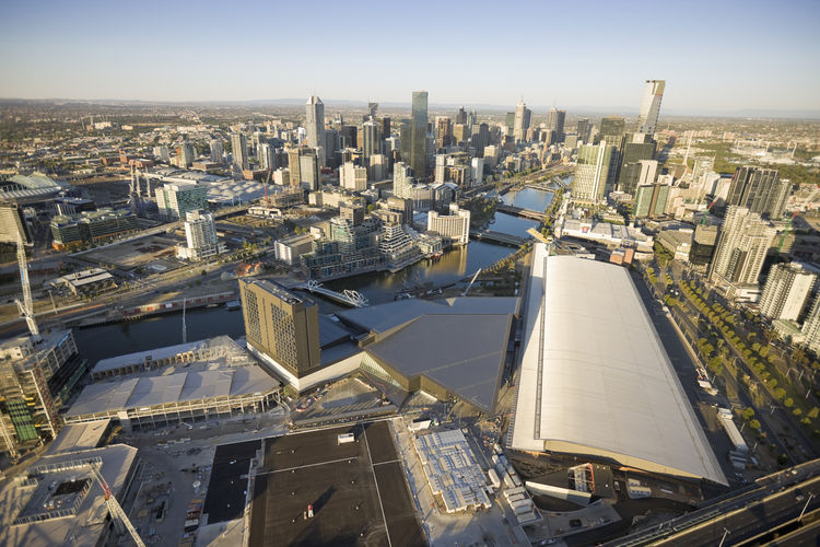 """If the Melbourne Convention Center is to truly integrate into the architectural life of the city, it's certainly pointing in the right direction. Instead of being, as Lyon says, """"a utilitarian beer barn or sports stadium thing on the edge of town,"""" this o"""